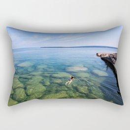 Serenity Swim in Lake Superior Rectangular Pillow