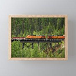 BNSF Going Over Goat Lick Creek Framed Mini Art Print