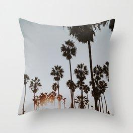 palm trees vi / venice beach, california Throw Pillow