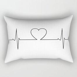 Minimalistic love heart beat design Rectangular Pillow