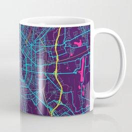 Milan Neon City Map, Milan Minimalist City Map Coffee Mug