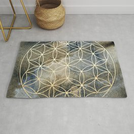 Sacred Geometry Ombre Watercolor Rug