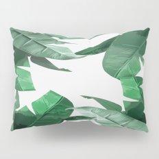 Tropical Palm Print Pillow Sham