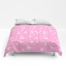 Winter Love - pink - more colors Comforters