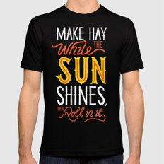 Sunshine Black LARGE Mens Fitted Tee