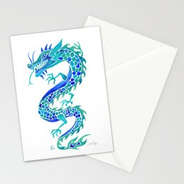 Chinese Dragon – Blue Palette Stationery Cards