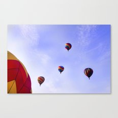 A Ride In The Sky - Hot Air Balloons  Canvas Print