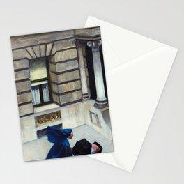 New York Pavements, 1924-1925 by Edward Hopper Stationery Cards