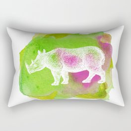 Color Spot Safari Rhinoceros Rectangular Pillow