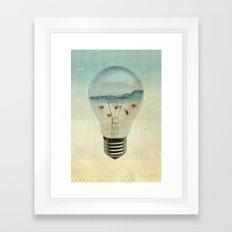 blue sea thinking Framed Art Print