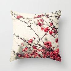 Printemps Rose Throw Pillow