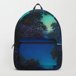 Blue Fountain at Twilight by Maxfield Parrish Backpack