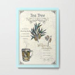 Tea Tree illustration. Metal Print