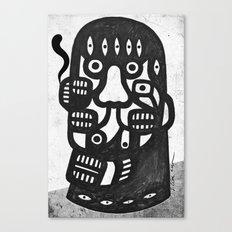 Magritte l'homme pipe sans la pipe Canvas Print