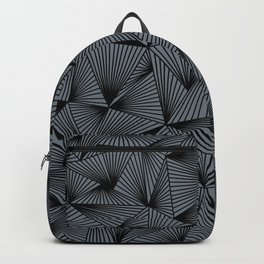 triangles on gray Backpack