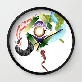 The Eye of the Rose Wall Clock