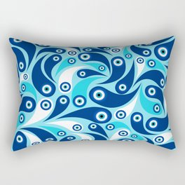 Nazar Amulet Paisley pattern #3 Rectangular Pillow