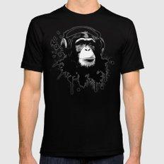 Monkey Business - White Black Mens Fitted Tee MEDIUM