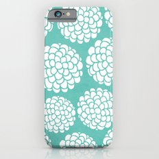 Turquoise Blossoms iPhone 6s Slim Case