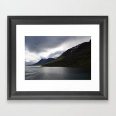 approaching iceland. Framed Art Print