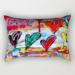 Love and Laughter Rectangular Pillow