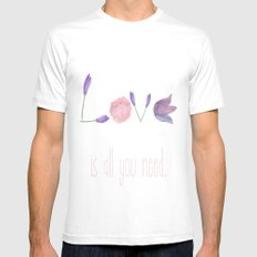 Love is all you need Mens Fitted Tee MEDIUM White