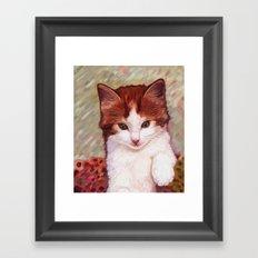 Copper kitten Framed Art Print