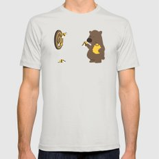 Bee game Mens Fitted Tee Silver SMALL