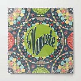 Mandala - Namaste Metal Print