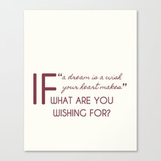 What are you wishing for? Canvas Print