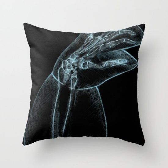 Puppet Check Up Throw Pillow