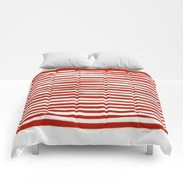 Waterline Pattern in Red Comforters