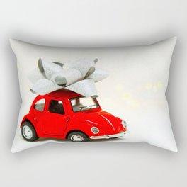 Red Car Christmas Present (Color) Rectangular Pillow