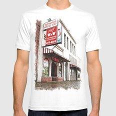 Vietnamese restaurant MEDIUM White Mens Fitted Tee