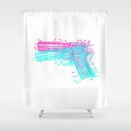 Gun Diagram Shower Curtain