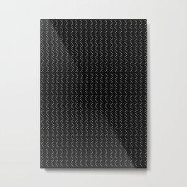 Mud Cloth Arrow Dot Glam #2 #pattern #decor #art #society6 Metal Print