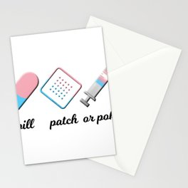 Pill, Patch, or Poke? Stationery Cards