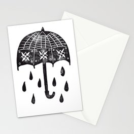 Black Umbrella Stationery Cards