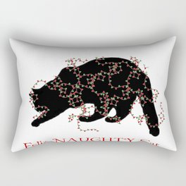 Feliz NAUGHTY Cat Rectangular Pillow