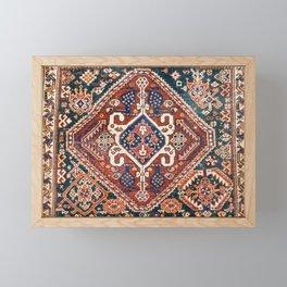 Qashqai Khorjin  Antique Fars Persian Bag Face Framed Mini Art Print