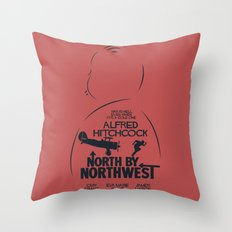 North by Northwest - Hitchcock Movie Poster Throw Pillow