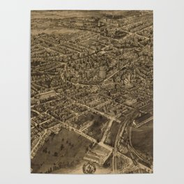 Vintage Pictorial Map of Middletown NY (1921) Poster