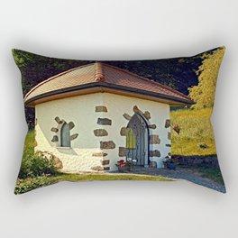 Small chapel up on the mountain Rectangular Pillow