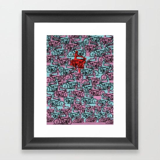 Ride Forever Framed Art Print