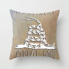 Gnalog (Analog Zine) Throw Pillow
