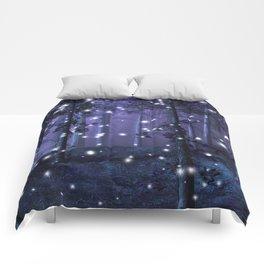 Purple Fantasy Forest Comforters