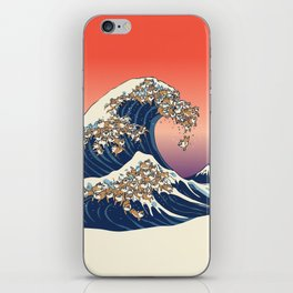 The Great Wave of Shiba Inu iPhone Skin