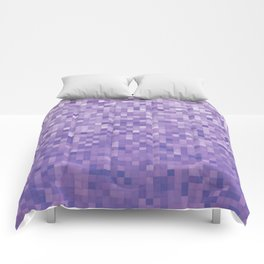 Pixels Gradient Pattern in Purple Comforters