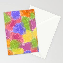 White Lined Color Stationery Cards