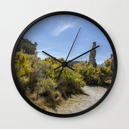 Mono Lake Tufa, No. 3 Wall Clock